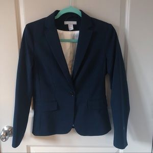 Navy Blue Fitted Blazer Size 6